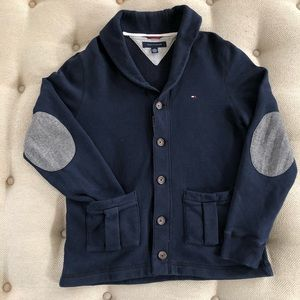 Tommy Hilfiger Sweatshirt Cardigan Elbow Patches S